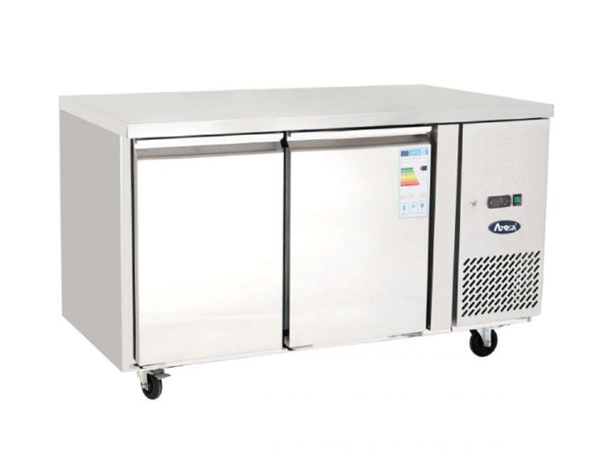 Two door undercounter refrigeration heavy duty gastronorm size