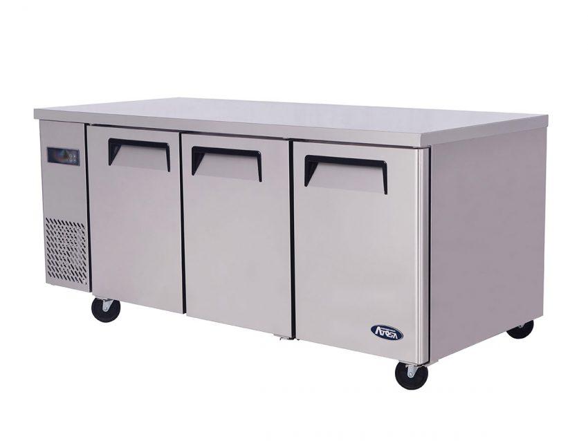 Three door undercounter refrigeration